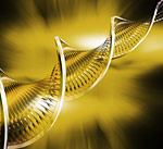 DNA abstract - gold